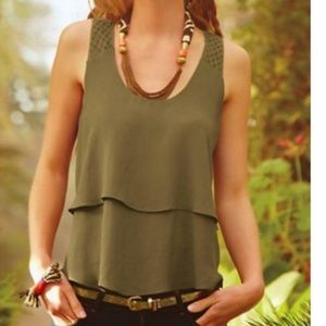 ANTHROPOLOGIE [HD in Paris] tiered midi tank